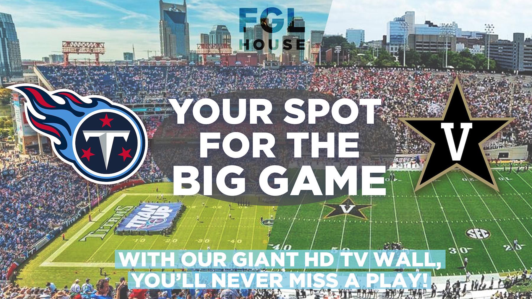 Titans Vanderbilt football at FGL House